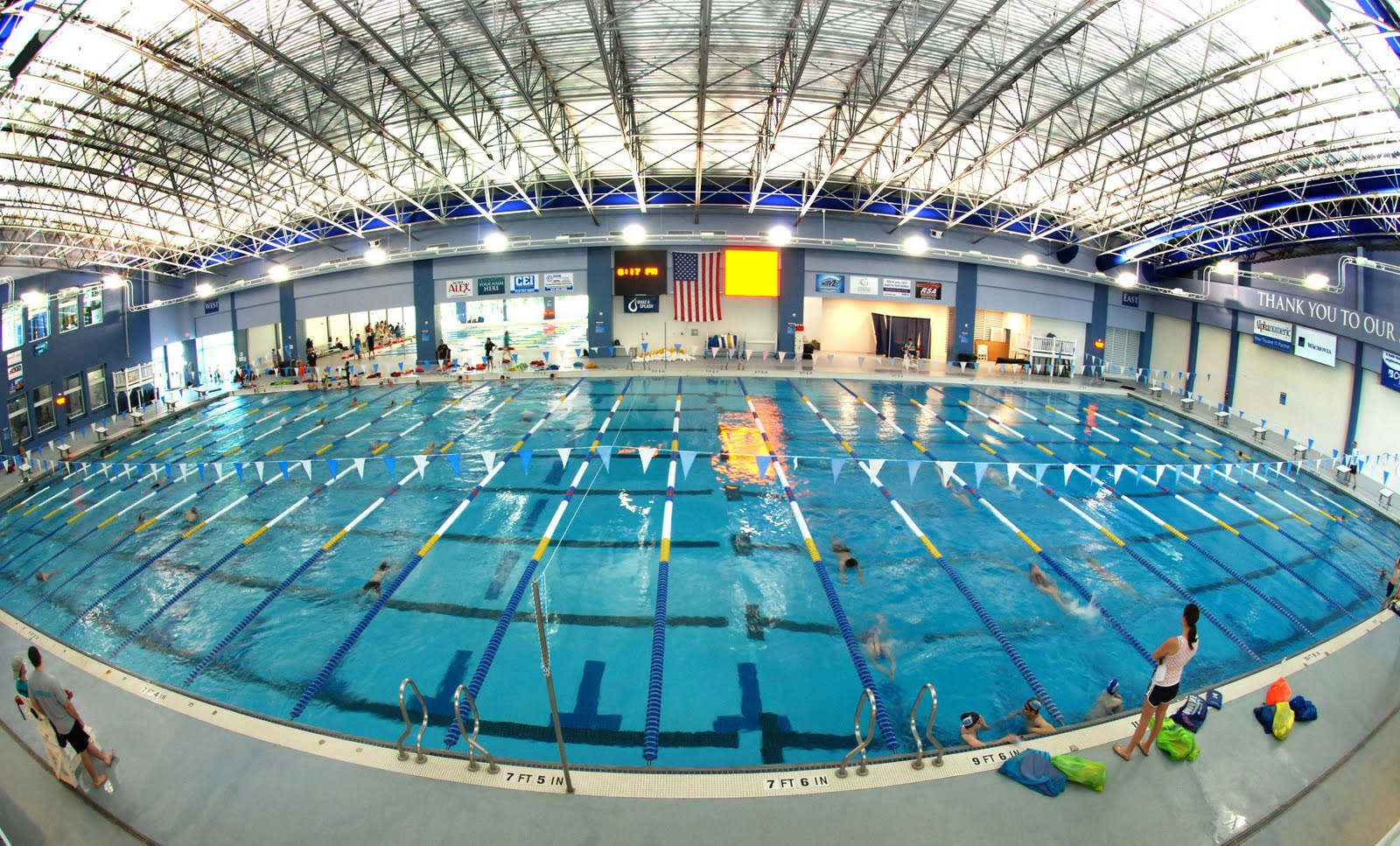 Tuesday Night Lights Triangle Aquatic Center Hosts The Aquagala
