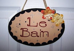 Le Bain sign for the hall bath