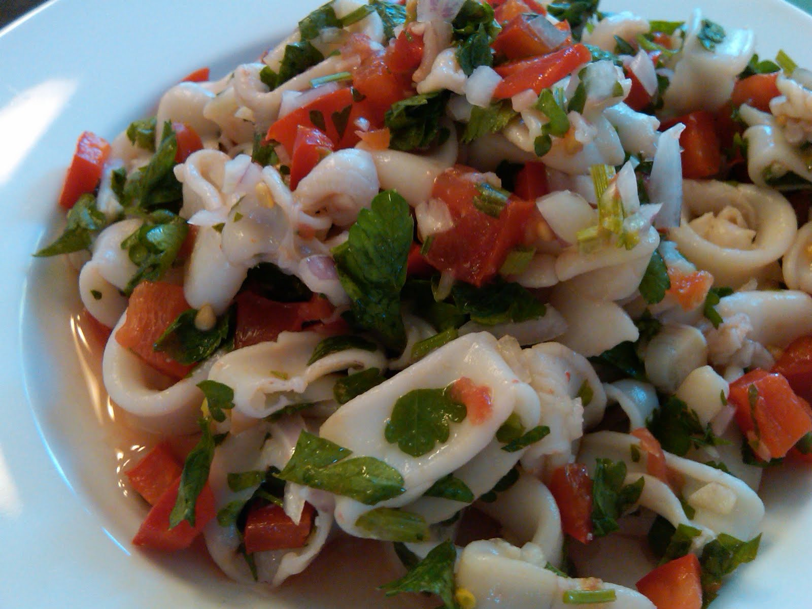 Calamari Salad Recipe — Dishmaps