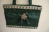 Green Straw Handmade Bag