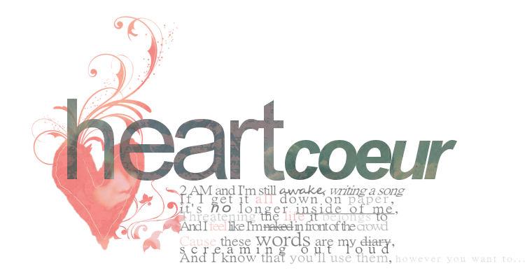 heart ♥ c o e u r
