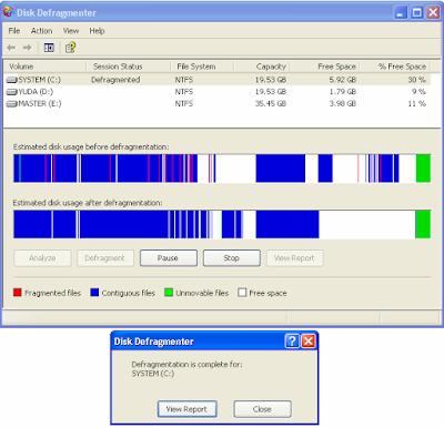Tips Komputer - Fungsi Disk Defragmenter