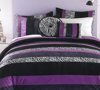 Zebra print bedding for Zebra print bedroom ideas
