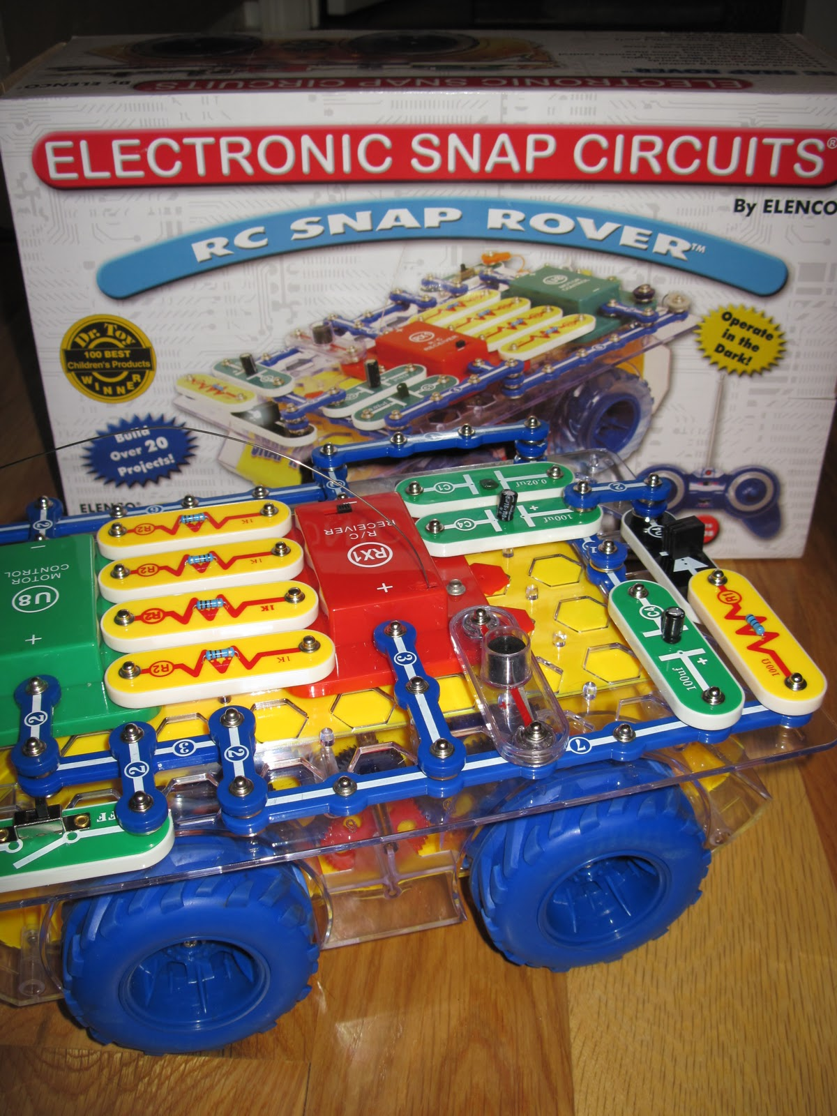 Haigh Happenings January 2011 Snap Circuits Rc Rover Heres Is One Of Aliahs Favorite Christmas Gifts A It Similar To Her Other Circuit Set But This Actually Remote Control Car