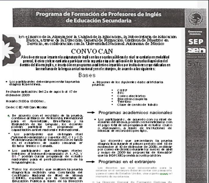 Cecam monterrey centro 1909 examen de ingl s para for Maestros en el extranjero