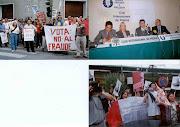 Actividades por la Democracia en el exterior del Peru.