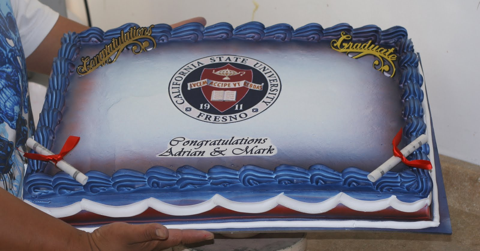 Hectors Custom Cakes Edble Image For Fresno State Grads