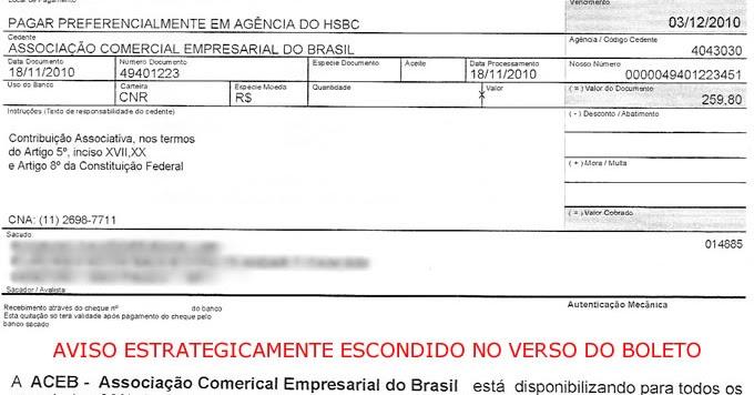 Golpe do boleto associao comercial empresarial do brasil fandeluxe Images