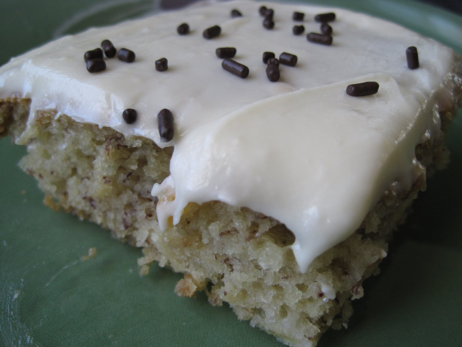 Some Kind of Delicious: Banana Sheet Cake with Cream Cheese Frosting