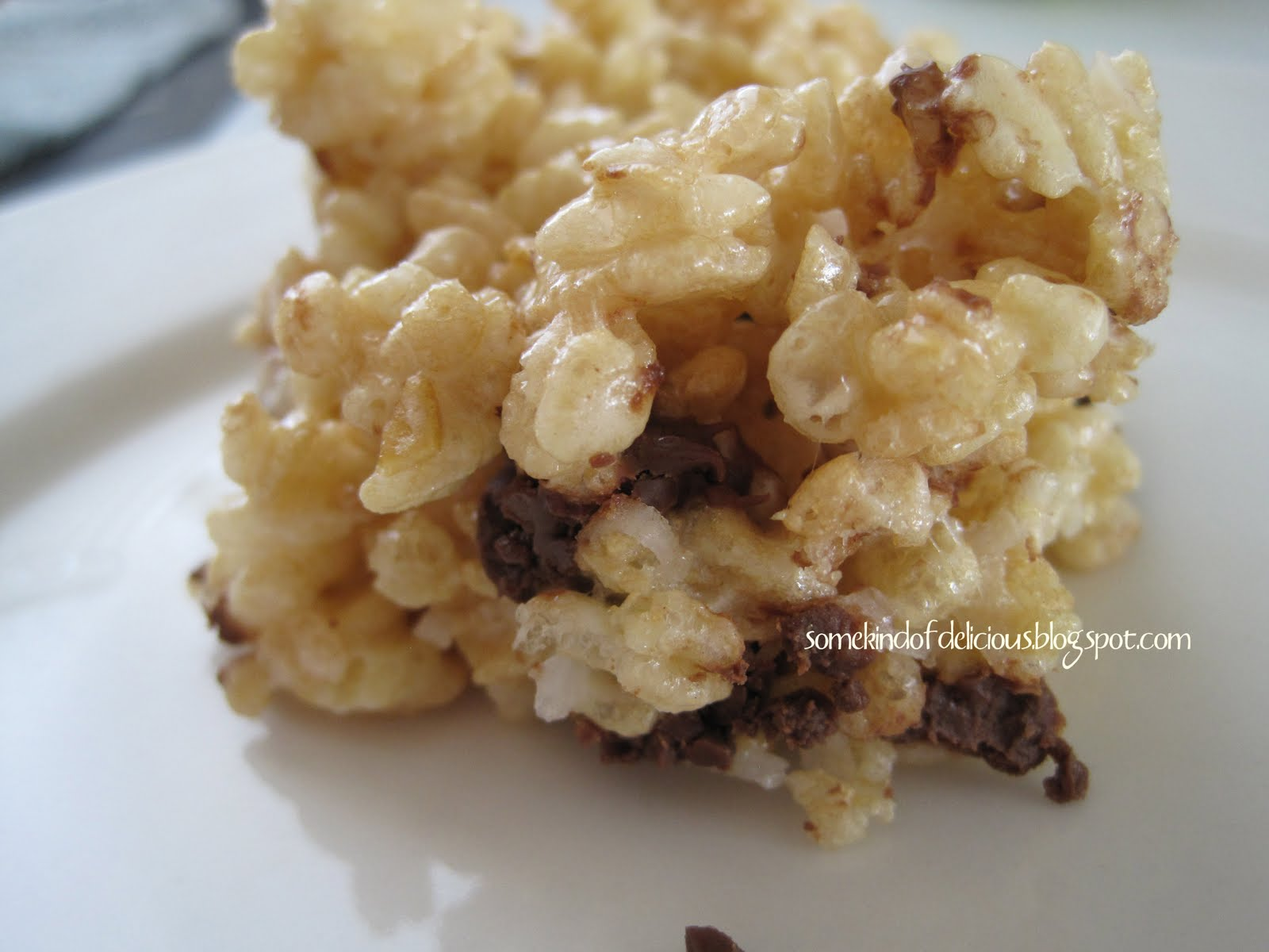 Some Kind of Delicious: Chocolate Coconut Rice Krispie Treats