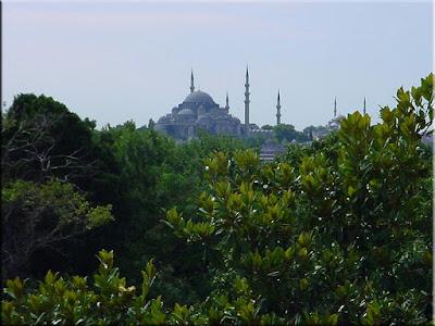 Mezquita Azul desde el palacio de Topkapi