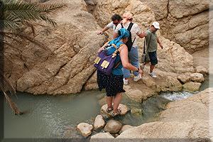 Cruzando las aguas del oasis