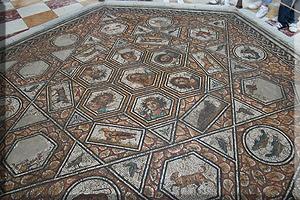 Mosaico en la Sala de Virgilio