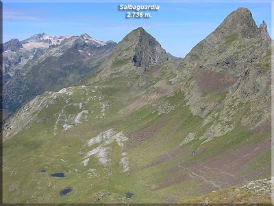 Salbaguardia y Pico de la Mina desde la Tuca del Port de la Picada