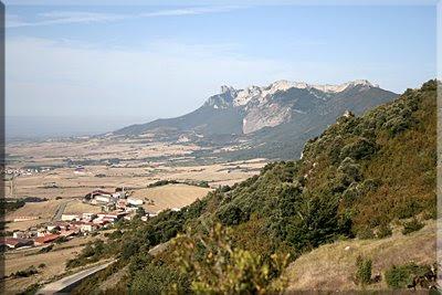 Vista de la sierra durante el ascenso