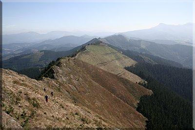 Cresta vista desde Untzueta