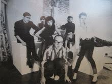 Grupo en la galería Vijande, preparando la expo del chochonismo