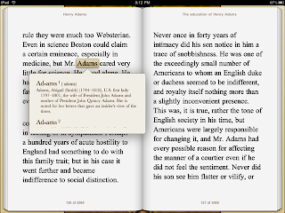 iPad as an ebook reader in horizontal mode