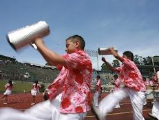 Bandas Estudiantiles hacen sonar sus tambores