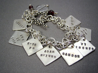 custom personalized handmade mommy mother bracelet