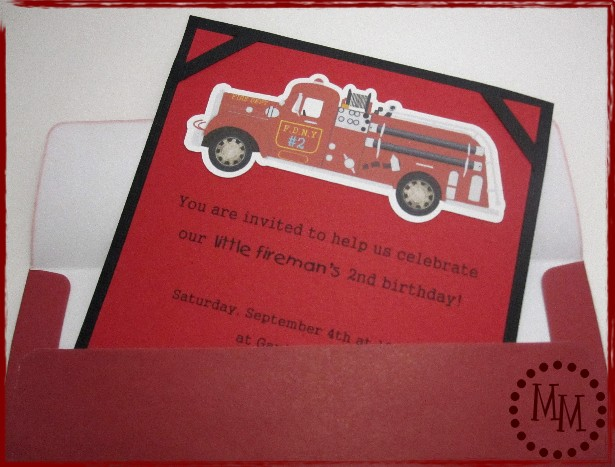 Fire Truck Party Invites The Scrap Shoppe – Fire Truck Party Invitations