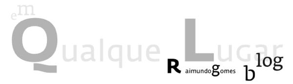 Raimundo Gomes Blog . em Qualquer Lugar