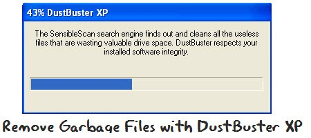 how to search temp files in xp