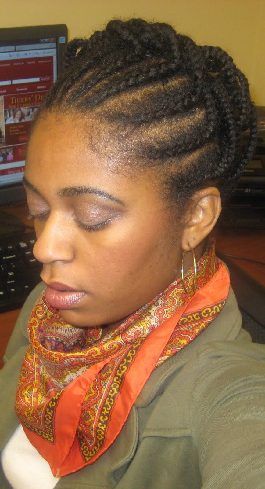 Here s what I didIndividual Braids Updo Hairstyles