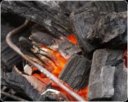 Aquecedor a carvão