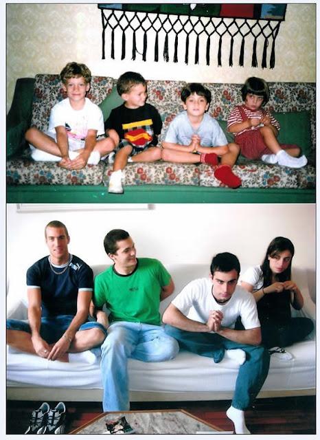 irado Recriando fotos da infância