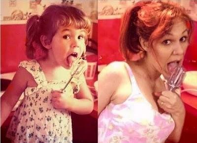 7 Recriando fotos da infância