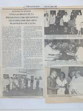 PEINTRES DE DEMAIN CINQ LAURETS DE LA PROMOTION 1988 RECOIVENT LEUR DIPLOME DES ARTS PLASTIQUES DE