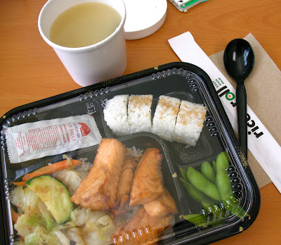 rice-n-roll salmon teriyaki bento lunch