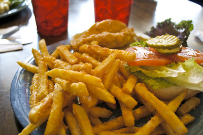 French fries (and chicken sandwich)