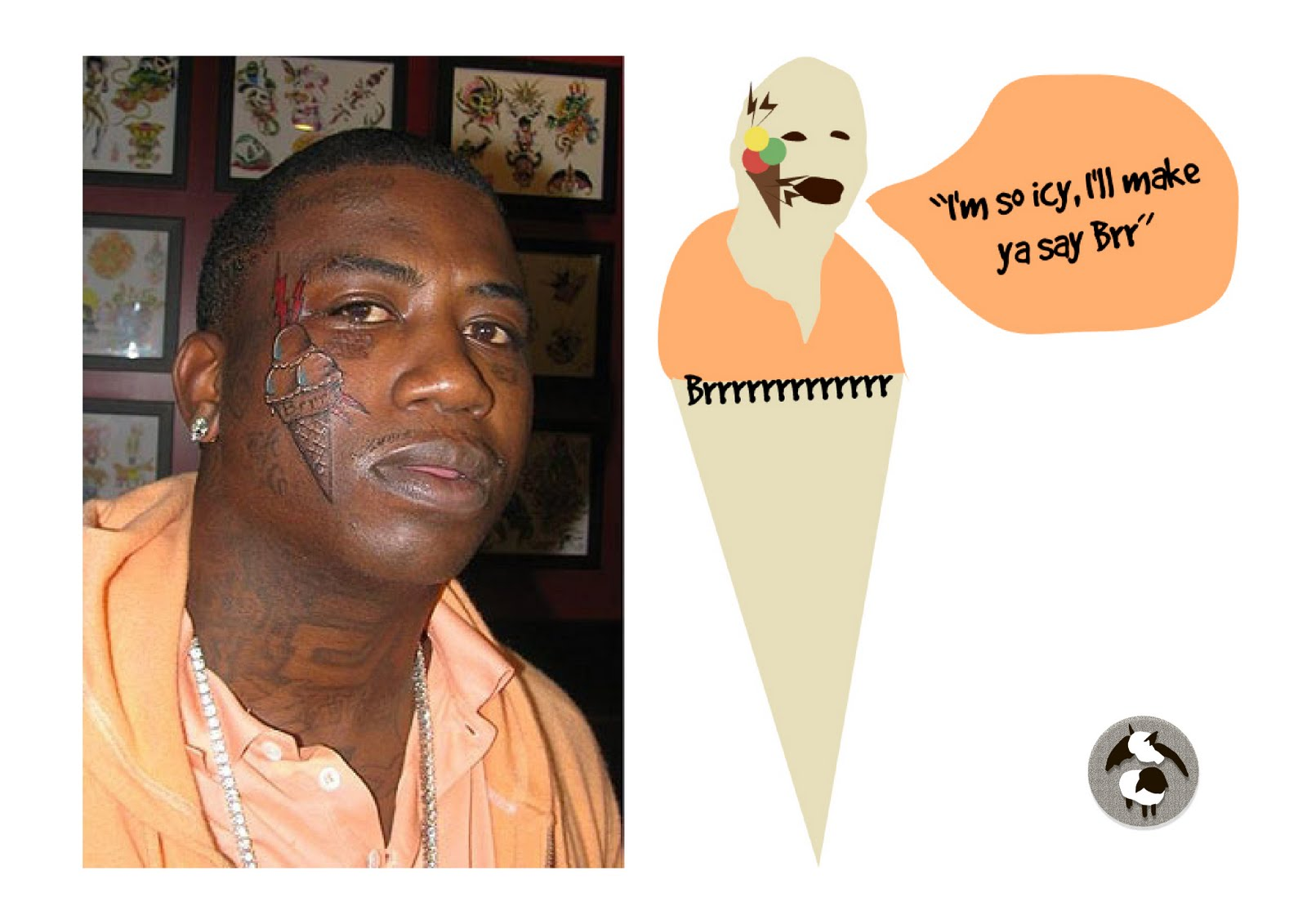 Gucci mane face cake ideas and designs for Gucci mane ice cream tattoo shirt