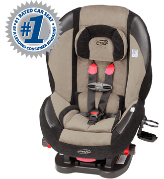 The Evenflo Triumph Advance LX Convertible Car Seat Was Recently Rated 1 Choice By Consumer Reports Considering Performance And Price