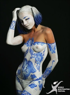 World Body Painting Festival Chines Contestant