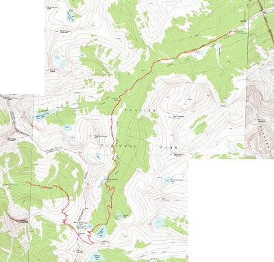 glacier national park map. Glacier National Park Topo Map