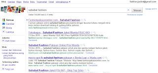 rangking google sahabat fashion pakaian