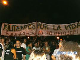 En la Marcha anti Botnia en Costanera