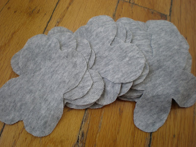 Цветы из трикотажной ткани 3