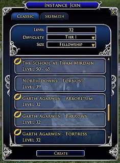 LOTRO Instance Join UI