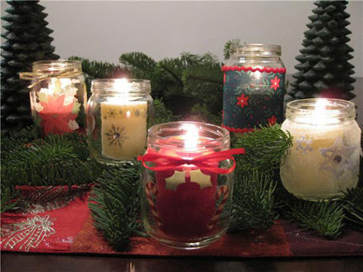 Petite planet diy make holiday candle holders from baby for How to make christmas candle holders