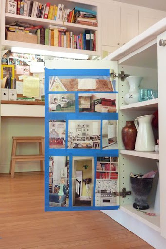 dollhouse, green dollhouse, diy dollhouse, eco dollhouse, dollhouse in a cupboard