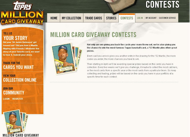 ToppsCards.Com - Login to Win The Topps Cards Million Card Giveaway