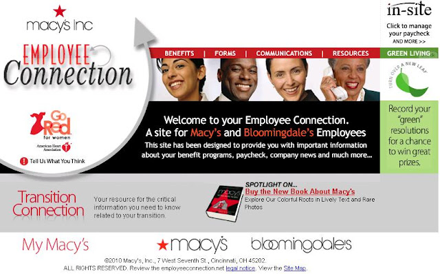 www.EmployeeConnection.Net, www.EmployeeConnection.Net Schedule,  macys insite, macys insite login, macys insite website, Macy's Insite Employee Connection