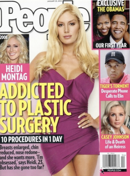 heidi montag surgery before after. Heidi Montag#39;s 10 Plastic