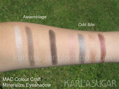 MAC, Colour Craft, Color Craft, eyeshadow, mineralize, swatches, Assemblage, Odd Bits