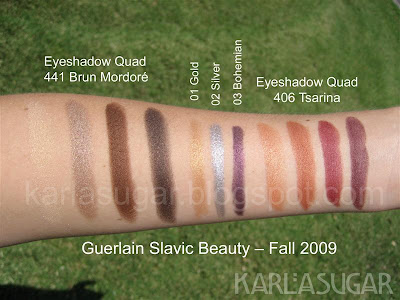 Guerlain, fall, 2009, slavic beauty, tsarina, swatches, brun mordore, russian beauty, bohemian