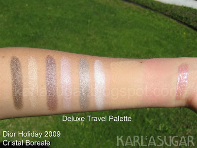 Dior, holiday, 2009, Cristal Boreale, deluxe, swatches, travel palette